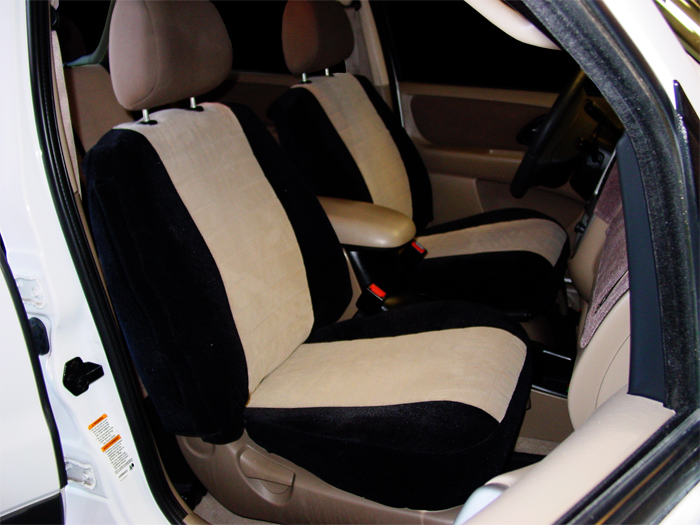 Two Tone Velour Seat Covers Seat Covers Unlimited