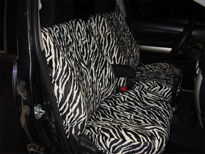 Zebra Fur Seat Covers | Seat Covers Unlimited