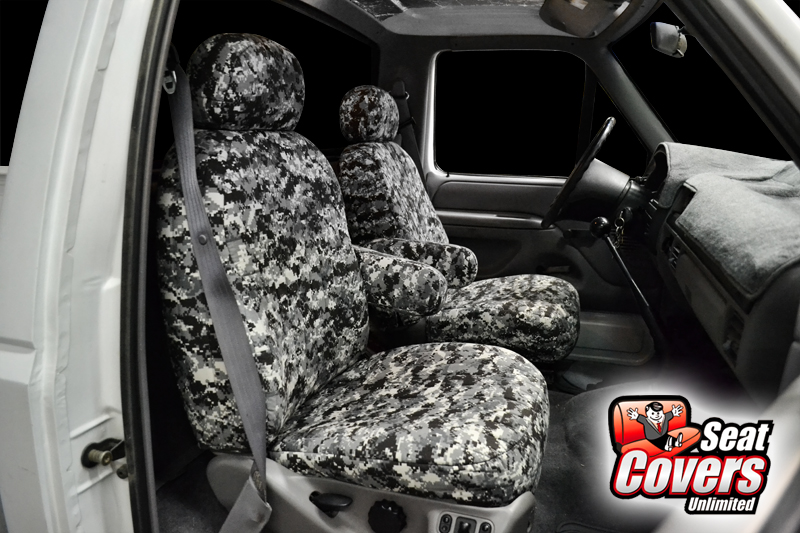 Digital Camouflage Seat Cover