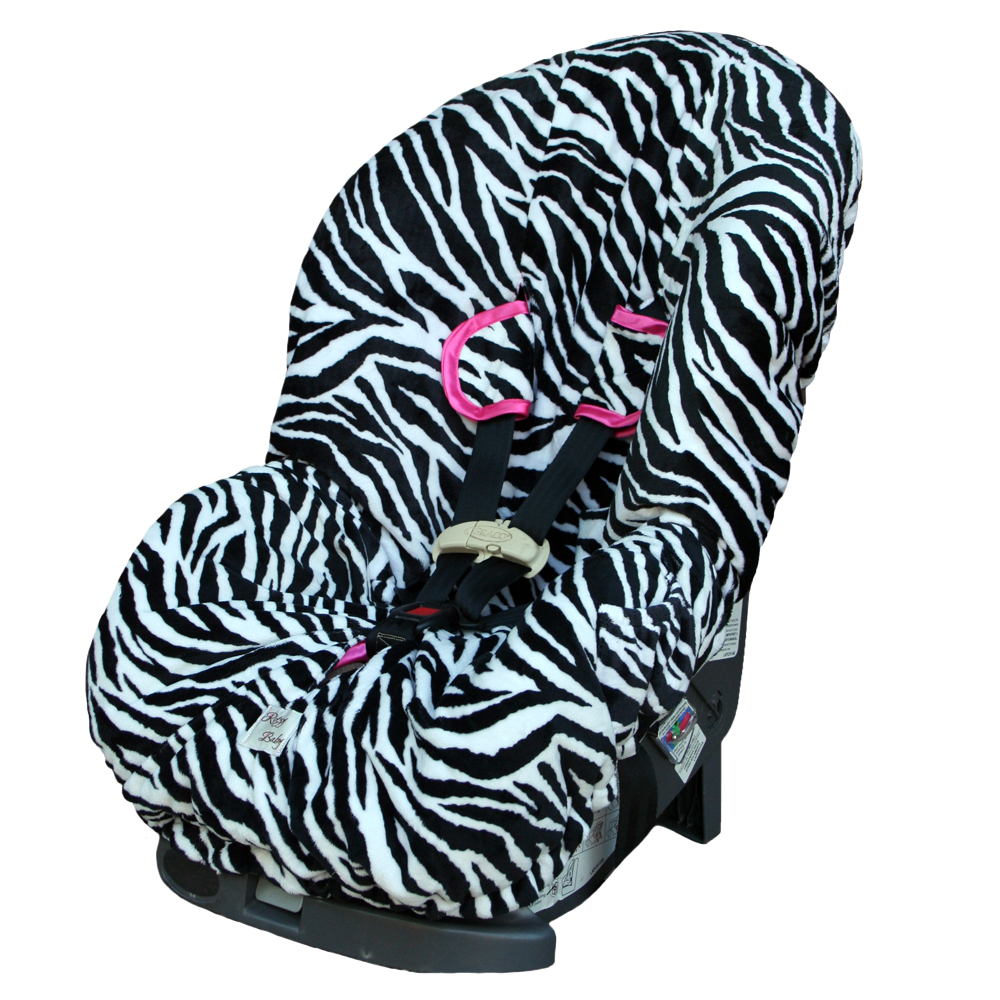 Zebra Toddler Car Seat Cover Detailed Images Image 1