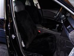BMW 530i Black Genuine Sheepskin Seat Seat Covers