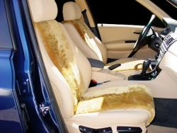 BMW X3 Camel Vest Sheepskin Seat Seat Covers