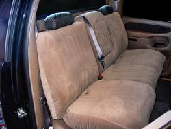 Chevy Avalanche Taupe Dorchester Rear Seat Seat Covers