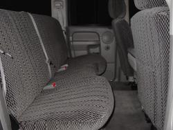 Dodge Ram Charcoal No Fleck Scottsdale Rear Seat Seat Covers