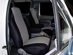Ford Bronco Silver Neoprene Seat Seat Covers
