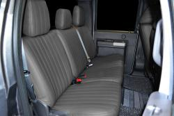 Ford F-250 Charcoal Vinyl Rear Seat Seat Covers