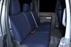 Ford F-250 Navy Vinyl Rear Seat Seat Covers
