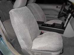 Ford Mustang Silver Vel Quilt Seat Seat Covers