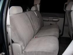 Gmc Sierra Silver Dorchester Rear Seat Seat Covers