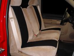 Gmc Sierra Two Tone Tan W Black Vel Quilt Insert Seat Seat Covers