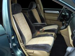 Honda Crv 2tone Velour Charcoal With Tan Vel Quilt Insert Seat Covers