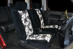 Honda Element 2tone Velour Black With Grey Hawaiian Insert Seat Seat Covers
