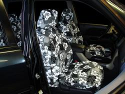 Honda Pilot Grey Hawaiian Seat Seat Covers