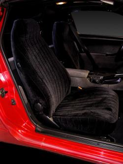 Nissan 300zx Black Vel Quilt Seat Seat Covers