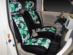 Nissan Cube Green Neo Hawaiian Seat Seat Covers