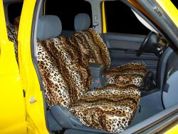 Nissan Xterra Gold Leopard Velour Seat Seat Covers