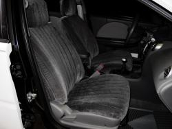 Saturn Ion Charcoal Vel Quilt Seat Seat Covers