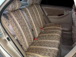 Toyota Corolla Tan Saddle Blanket Rear Seat Covers
