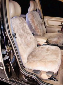 Volvo S70 Taupe Genuine Sheepskin Seat Seat Covers