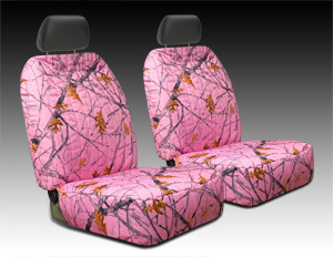 Pink Camouflage Seat Cover