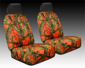 Orange Camouflage Seat Cover