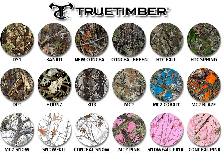 True Timber Camouflage swatches