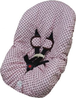 Goth Pink And Brown Toddler Car Seat Cover