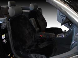 Audi A4 Black Genuine Sheepskin Seat Seat Covers