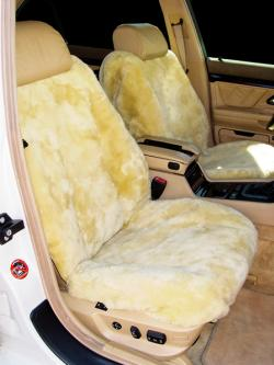 BMW 740iL Sheepskin Gobi Seat Seat Covers