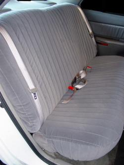 Buick Century Silver Dorchester Rear Seat Seat Covers