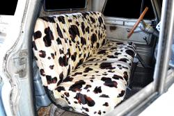 Chevy Pickup Brown Cow Velour Seat Seat Covers