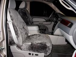 Chevy Silverado Pewter Genuine Sheepskin Seat Seat Covers