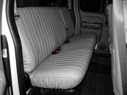 Chevy Silverado Silver Vinyl Rear Seat Seat Covers