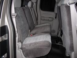 Chevy Silverado Two Tone Velour Rear Seat Seat Covers