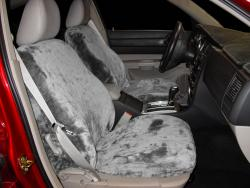 Dodge Charger Silver Imitation Sheepskin Seat Seat Covers