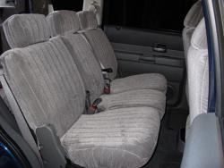 Dodge Durango Silver Vel Quilt Mid Seat Seat Covers