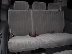 Dodge Durango Silver Vel Quilt Rear Seat Seat Covers