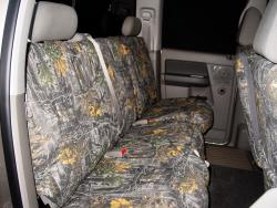 Dodge Ram Superflauge Camo Rear Seat Seat Covers