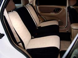 Ford Escape Two Tone Velout Black W Tan Vel Quilt Rear Seat Seat Covers