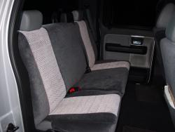Ford F-150 Two Tone Velour Rear Seat Seat Covers