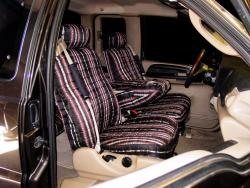 Ford F-250 Black Aztec Seat Seat Covers