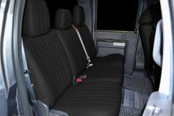 Ford F-250 Black Vinyl Rear Seat Seat Covers