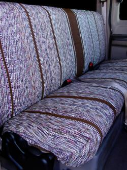 Ford F-250 Brown Saddle Blanket Rear Seat Seat Covers