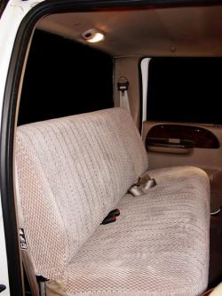 Ford F-350 Taupe Scottsdale Rear Seat Seat Covers