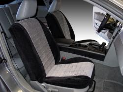 Ford Mustang Two Tone Velour Black With Silver Madrid Insert Seat Seat Covers