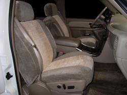Gmc Yukon Taupe W Tan Vel Quilt Insert Seat Seat Covers