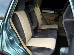 Honda Crv 2tone Velour Charcoal With Tan Vel Quilt Insert Rear Seat Seat Covers