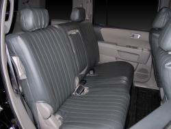 Honda Pilot Charcoal Vinyl Rear Seat Seat Covers
