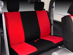 Jeep Wrangler Red Neoprene Rear Seat Seat Covers