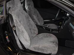 Mercedes Slk350 Pewter Genuine Sheepskin Seat Seat Covers